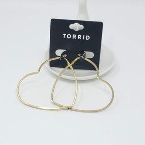 Torrid Oversized Heart Hoops